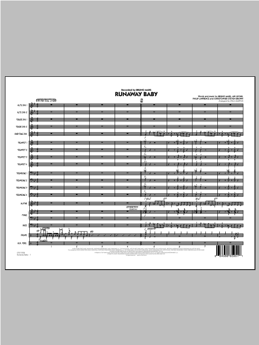 Runaway Baby - Conductor Score (Full Score) (Jazz Ensemble)