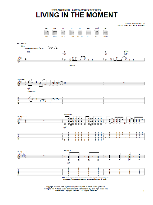 Living In The Moment Sheet Music