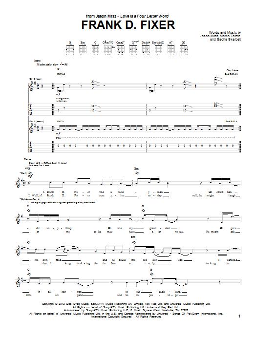 Frank D Fixer (Guitar Tab)