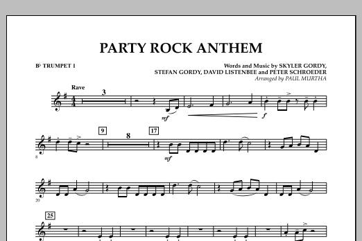 Party Rock Anthem Bb Trumpet 1 Noten Paul Murtha Blasorchester
