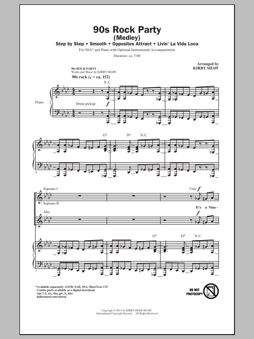 90's Rock Party (Medley) Sheet Music
