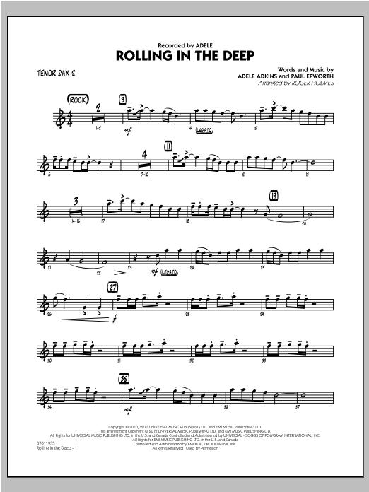 Rolling in the Deep - Tenor Sax 2 (Jazz Ensemble)