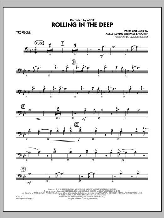 Rolling in the Deep - Trombone 1 (Jazz Ensemble)