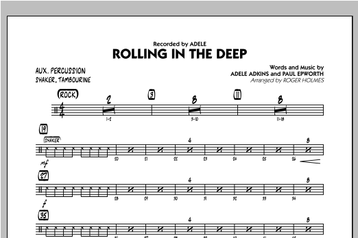 Rolling in the Deep - Aux Percussion (Jazz Ensemble)