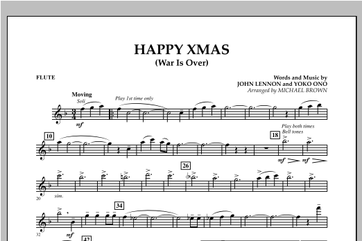 page one of Happy Xmas (War Is Over) - FluteASALTTEXT