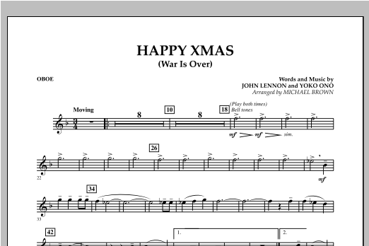 Happy Xmas (War Is Over) - Oboe (Concert Band)