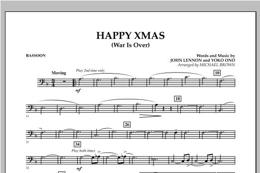 Happy Xmas (War Is Over) - Bassoon (Concert Band)