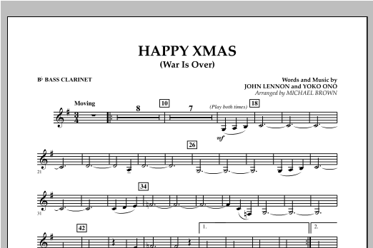 Happy Xmas (War Is Over) - Bb Bass Clarinet (Concert Band)