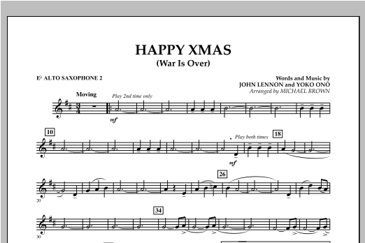 Happy Xmas (War Is Over) - Eb Alto Saxophone 2 (Concert Band)
