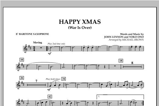 Happy Xmas (War Is Over) - Eb Baritone Saxophone (Concert Band)