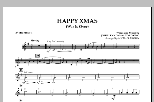 happy xmas war is over bb trumpet 1