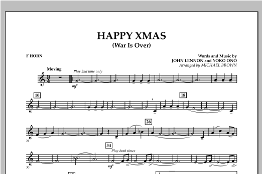 page one of Happy Xmas (War Is Over) - F HornASALTTEXT