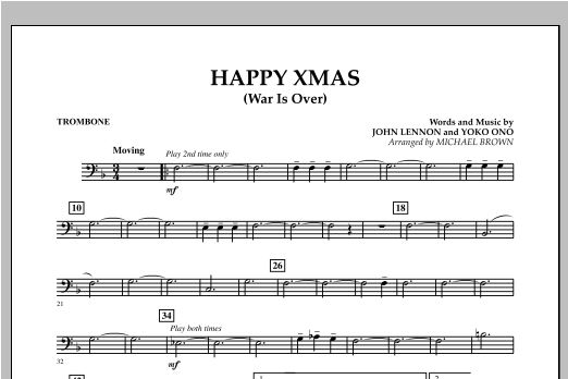 page one of Happy Xmas (War Is Over) - TromboneASALTTEXT