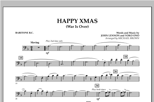 page one of Happy Xmas (War Is Over) - Baritone B.C.ASALTTEXT