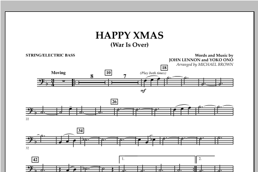 Happy Xmas (War Is Over) - Bass (Concert Band)