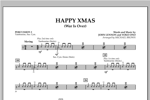 Happy Xmas (War Is Over) - Percussion 2 (Concert Band)