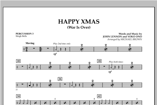 Happy Xmas (War Is Over) - Percussion 3 (Concert Band)