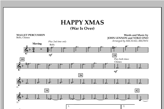 Happy Xmas (War Is Over) - Mallet Percussion (Concert Band)