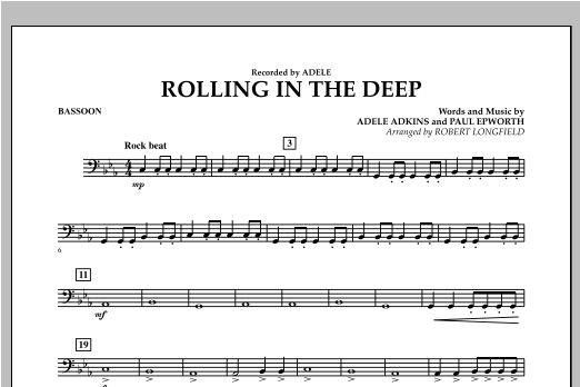 Rolling in the Deep - Bassoon (Concert Band)