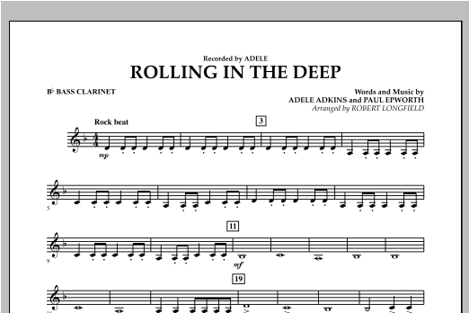 Rolling in the Deep - Bb Bass Clarinet (Concert Band)