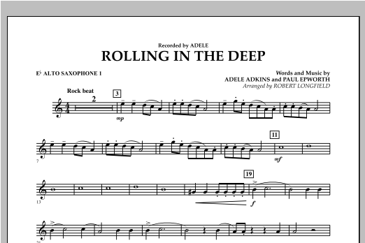Rolling in the Deep - Eb Alto Saxophone 1 (Concert Band)