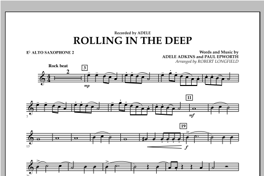 Rolling in the Deep - Eb Alto Saxophone 2 (Concert Band)