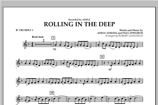 Rolling in the Deep - Bb Trumpet 1 (Concert Band)
