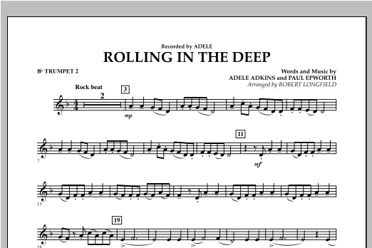 Rolling in the Deep - Bb Trumpet 2 (Concert Band)