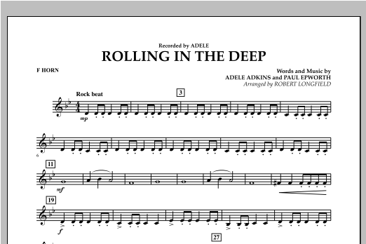 Rolling in the Deep - F Horn (Concert Band)