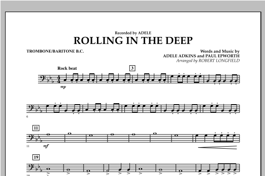 Rolling in the Deep - Trombone/Baritone B.C. (Concert Band)