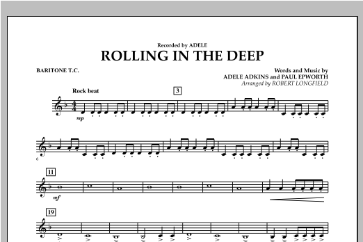 Rolling in the Deep - Baritone T.C. (Concert Band)