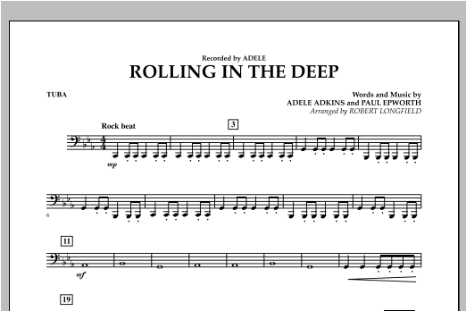 Rolling in the Deep - Tuba (Concert Band)