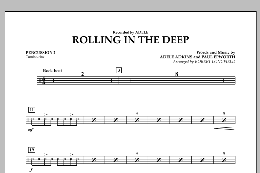 Rolling in the Deep - Percussion 2 (Concert Band)