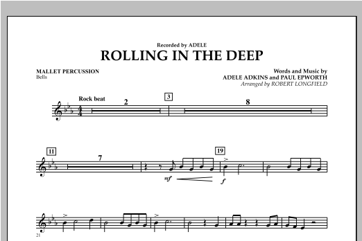 Rolling in the Deep - Mallet Percussion (Concert Band)