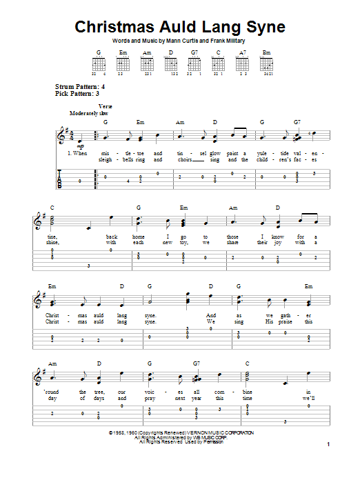 Christmas Auld Lang Syne : Sheet Music Direct