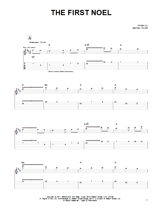The First Noel (Guitar Tab)