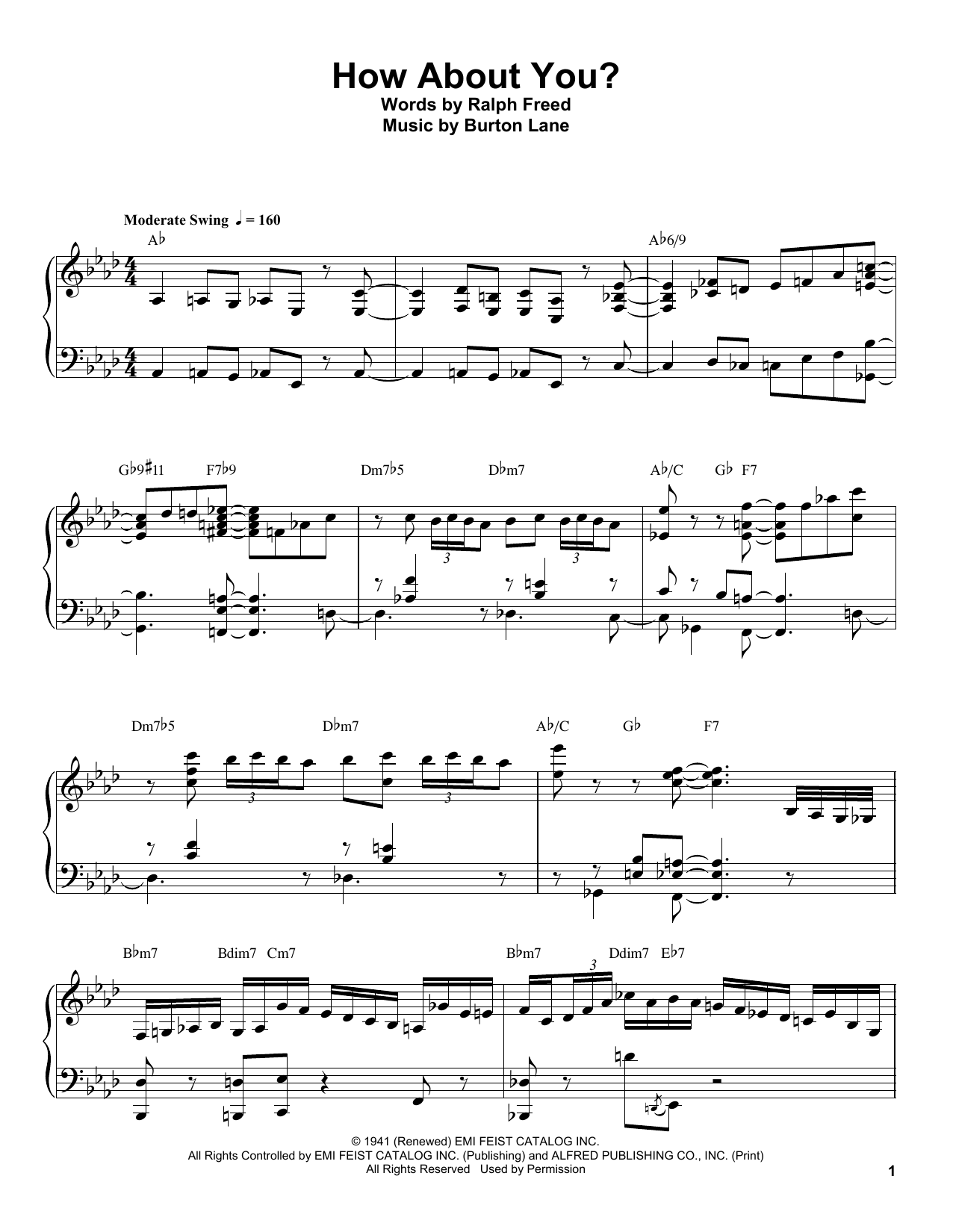 How About You? Sheet Music