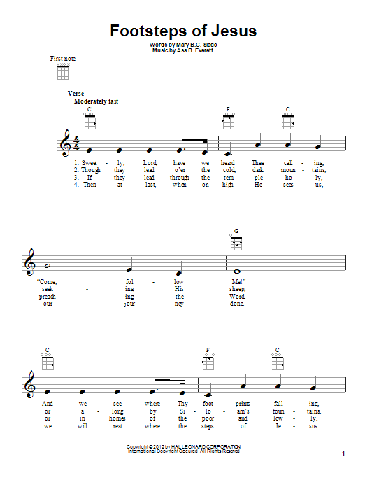 Footsteps Of Jesus Sheet Music