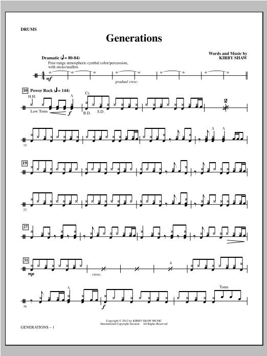 Generations - Drums (Choir Instrumental Pak)