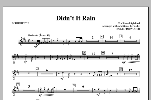 Didn't It Rain - Bb Trumpet 2 Sheet Music