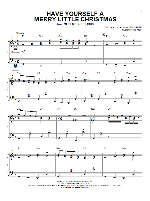 Sensational Have Yourself A Merry Little Christmas Sheet Music Direct Easy Diy Christmas Decorations Tissureus