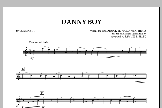 Danny Boy - Bb Clarinet 1 Sheet Music