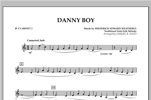 Danny Boy - Bb Clarinet 2 Sheet Music
