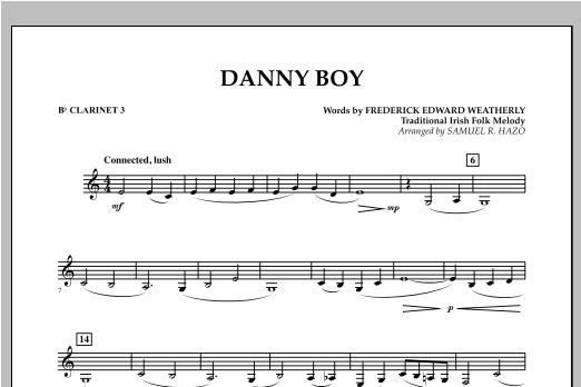Danny Boy - Bb Clarinet 3 Sheet Music