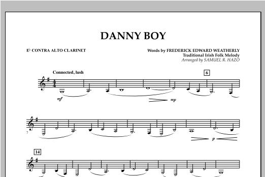 Danny Boy - Eb Contra Alto Clarinet Sheet Music
