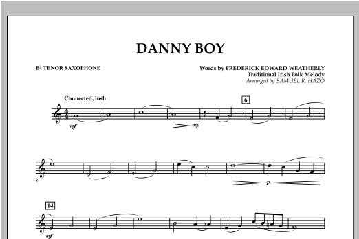 Danny Boy - Bb Tenor Saxophone Sheet Music