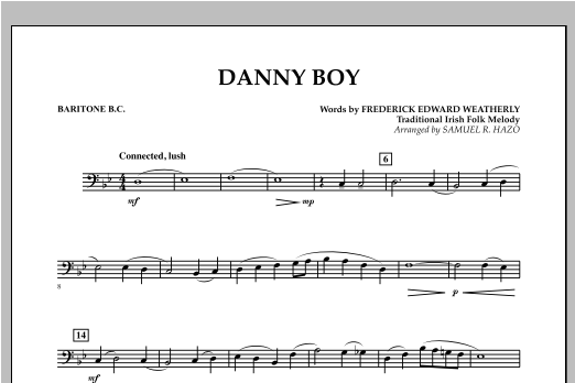 Danny Boy - Baritone B.C. Sheet Music