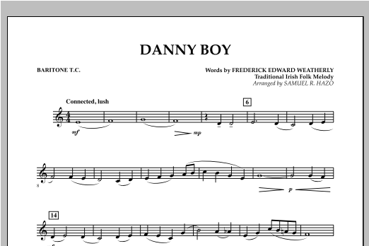 Danny Boy - Baritone T.C. Sheet Music
