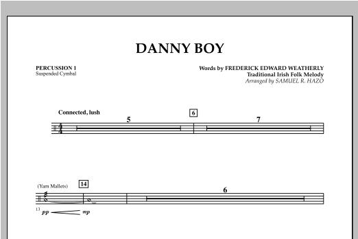 Danny Boy - Percussion 1 Sheet Music