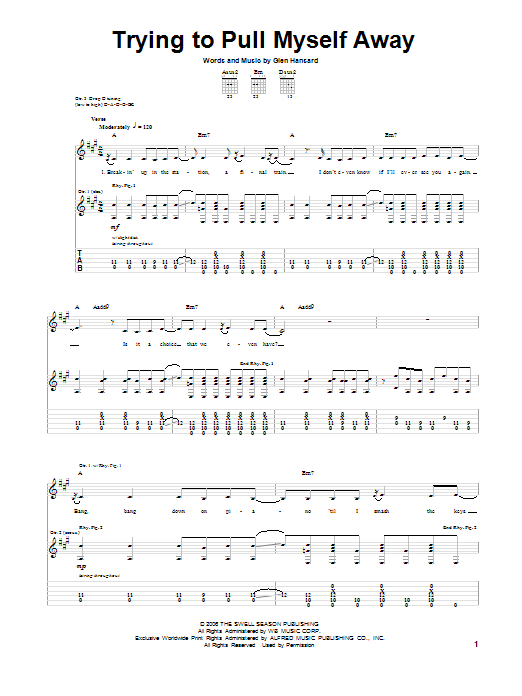 Trying To Pull Myself Away (Guitar Tab)